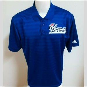Sz L Blue Adidas ClimaLite Mens db Poly #37K Polo